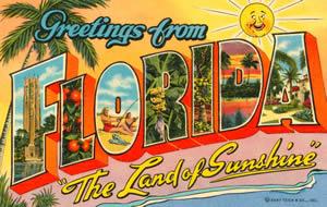 postcard greetings florida